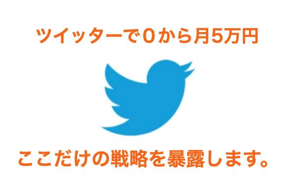 ツイッターで0から月5万円を稼ぐ方法【戦略的な話です】